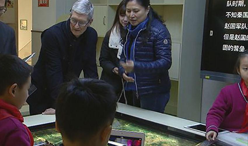 苹果CEO库克造访卢湾一中心小学